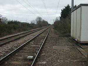 Swainsthorpe railway station - Image: Site of Swainsthorpe station geograph.org.uk 114146