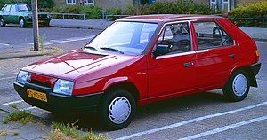 Škoda Favorit - Image: Skoda Favorit Utrecht 1989