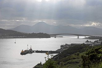 Loch Alsh - The Kyle (narrows) of Loch Alsh and the Skye Bridge