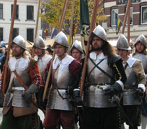 Slag om Grolle 2008-2 - Piekeniers marcheren naar het slagveld