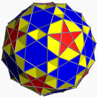 Uniform star polyhedron - The small snub icosicosidodecahedron is a uniform star polyhedron, with vertex figure 35.5/2