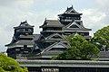 Small tenshu & Uto turret & Large tenshu in Kumamoto-Csl.jpg