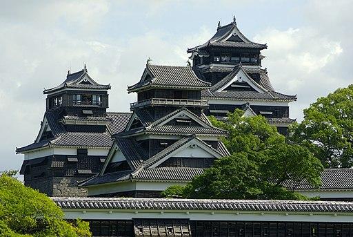 Small tenshu & Uto turret & Large tenshu in Kumamoto-Csl