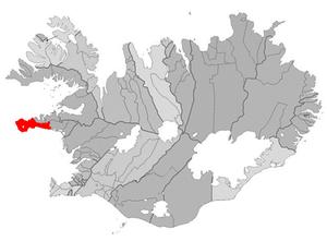Ólafsvík - Image: Snaefellsbaer map