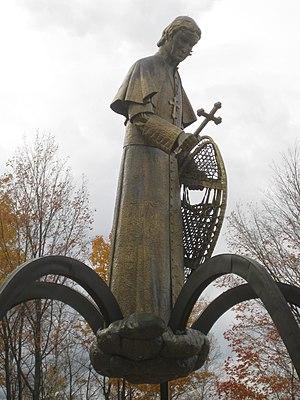 "Jack E. Anderson - Jack E. Anderson's ""Snowshoe Priest"" (1969) sculpture of Bishop Frederic Baraga"