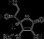 Strukturformel von Natriumisoascorbat