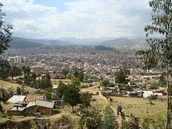 View of Sogamoso in the Iraca Valley