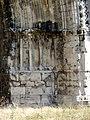 Soissons (02), abbaye Saint-Jean-des-Vignes, abbatiale, façade occidentale, portail de la nef, piédroit droit.jpg