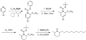 Solenopsin - Figure 1. Example synthesis of racemic solenopsin