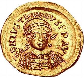 Justin I - Solidus of Emperor Justin I