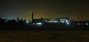 Somerdale Factory - Factory at night, during last month of operation