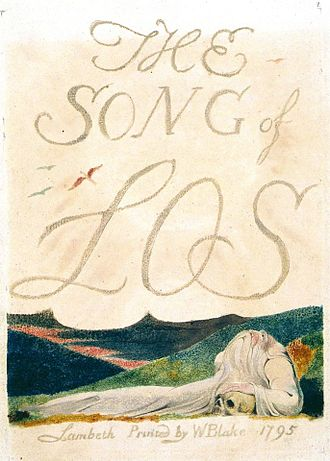 Continental prophecies - Title page of The Song of Los, 1795
