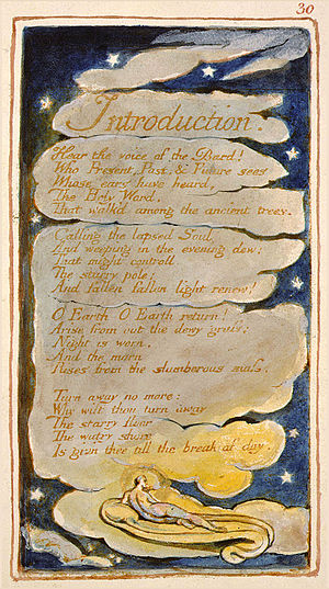 "Introduction (Blake, 1794) - Songs of Innocence and of Experience, copy AA, 1826, object 30 (Bentley 30, Erdman 30, Keynes 30) ""Introduction""  (The Fitzwilliam Museum)"