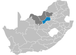 Ligging Southern District Municipality