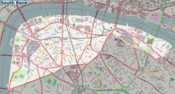 South London Areas Map.London South Bank Walk Travel Guide At Wikivoyage