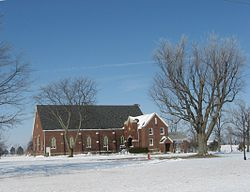 A church in Liberty Township