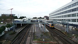 Southampton Central railway station during tunnel works.JPG