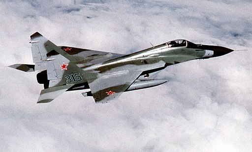 Soviet MiG-29 over Alaska 1989