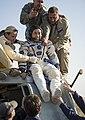 Soyuz TMA-11M Koichi Wakata shortly after landing.jpg