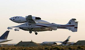 SpaceShipOne flight 16P - SpaceShipOne Takes Off