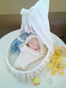 Cake Made For A Baby Shower With Edible Decorations An Example Of Art