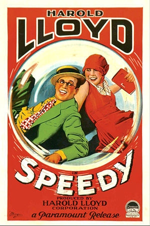 Speedy (film) - Poster