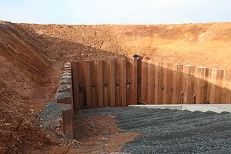 Retaining wall - Sheet pile wall