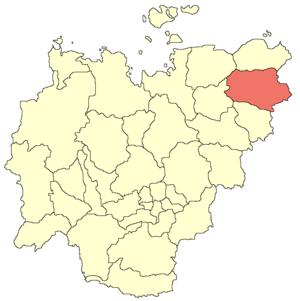 Srednekolymsky District - Image: Srednekolymsky ulus location