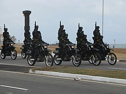 Sri Lanka Army Special Forces Regiment combat rider teams on parade