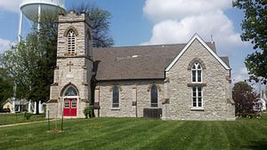 National Register of Historic Places listings in Monroe County, Missouri - Image: St. Jude's Episcopal 3