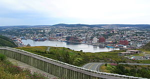 View of St. John's, Newfoundland, from Signal Hill