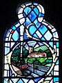 Stained glass window, St Cuthberts Church (geograph 2437631).jpg