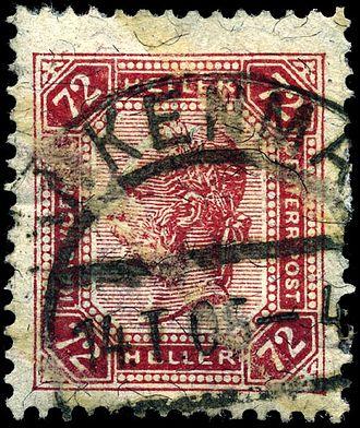 Postage stamp reuse - Image: Stamp Austria 1904 72h