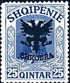 Stamp of Albania - 1920 - Colnect 182239 - Unissued portrait of Prince zu Wied overprinted in black.jpeg