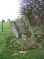 Standing stone near Crown House, Selattyn - geograph.org.uk - 325800.jpg
