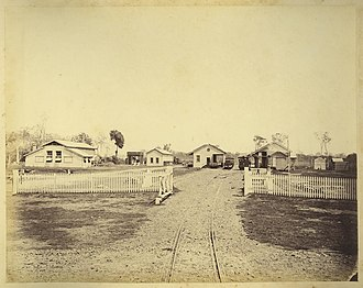 Mount Perry railway line - Bundaberg Station in 1882