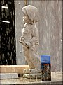 Statue in the rain at Swinton, Greater Manchester.jpg