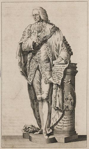 William Beckford (politician) - Engraving of a statue of Beckford