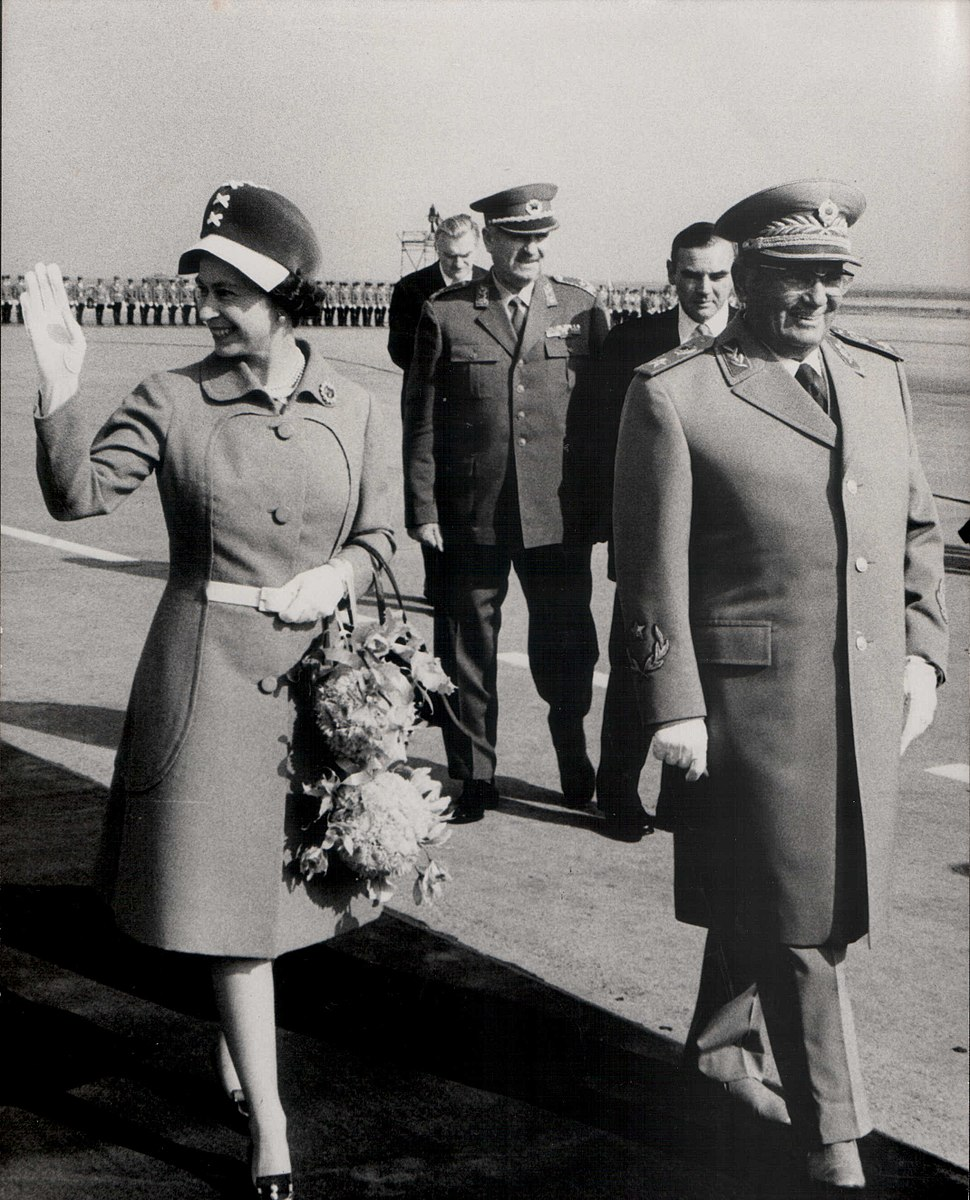 Stevan Kragujevic, Elizabeth II i Josip Broz Tito,1972, u Beogradu