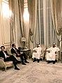 Steven Mnuchin and Ali Shareef Al-Emadi in Doha Oct 2018.jpg