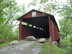 Stillwater Covered Bridge No. 134 crosses Fishing Creek in Stillwater