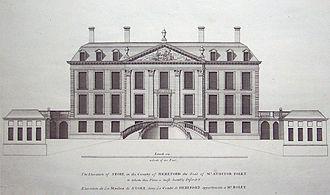 Williamite - Stoke House (1695) in Vitruvius Britannicus I (1715)
