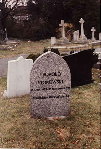 East Finchley Cemetery - Leopold Stokowski's grave at East Finchley Cemetery