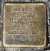 Stolperstein Leopoldstr 22 (Rumbg) Gertrud Loewenberg.jpg