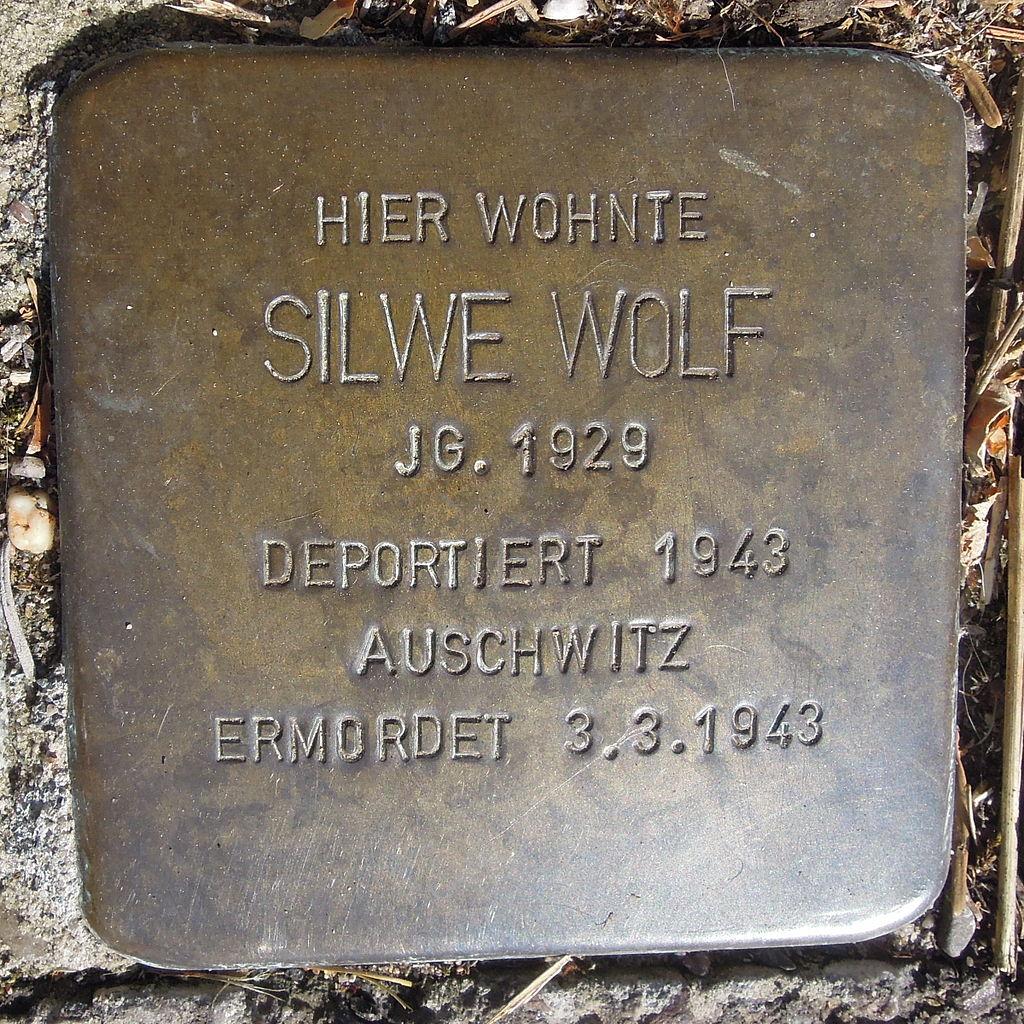 Stolperstein Saarburg Klosterstraße 08 Silwe Wolf.JPG