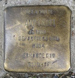 Photo of Any Gruft brass plaque