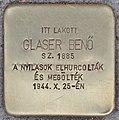 Stolperstein für Benö Glaser - Glaser Benö (Budapest).jpg