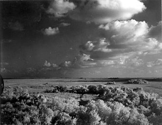 Everglades - A storm over the Shark River in the Everglades, 1966 Photo:Charles Barron / State Library and Archives of Florida