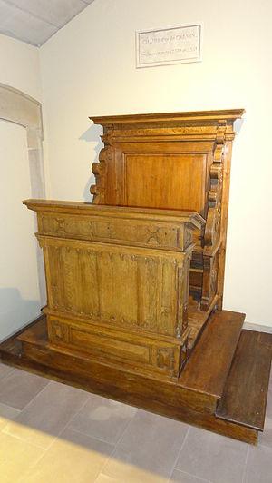 Jean Sturm Gymnasium - John Calvin's pulpit, kept in the school's premises