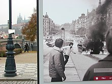 Street Scene with Poster of 1968 Soviet Invasion - Prague - Czech Republic.jpg